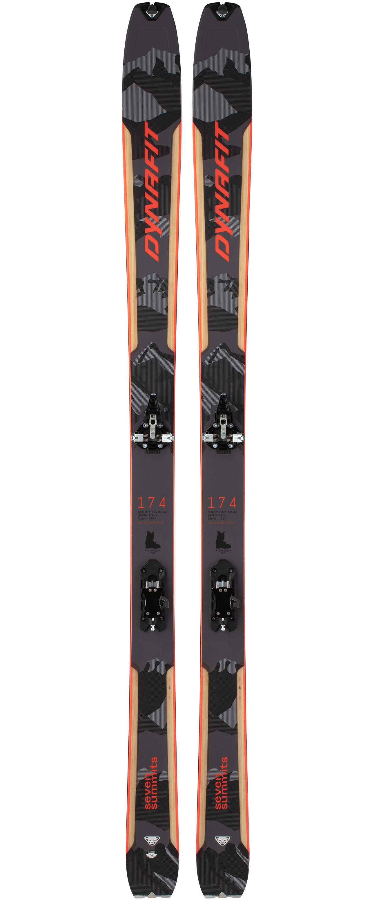 Dynafit Seven Summits Ski Set skialpový lyžarský set grey/red