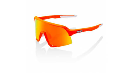 100% S3 Mathieu van der Poel LE Neon Orange HiPER Red Multilayer Mirror Lens brýle