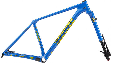 Cannondale F-Si Hi-Mod a Lefty Ocho Carbon Heritage Blue set