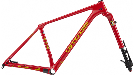 Cannondale F-Si Hi-Mod a Lefty Ocho Carbon Heritage Red set