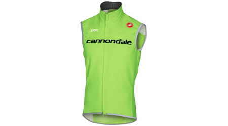Cannondale Pro Cycling Team Windstopper Perfetto vesta zelená