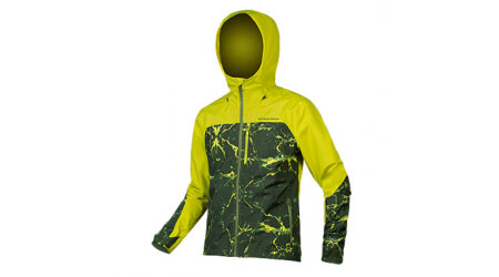Endura SingleTrack waterproof pánská bunda Lime Green