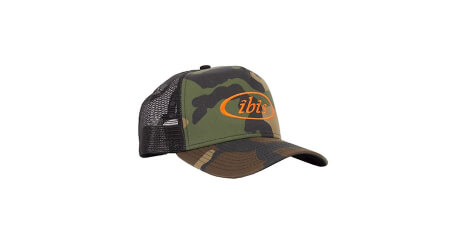 Ibis Trucker kšiltovka Camo/Orange Logo