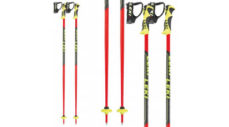 Leki WC Lite SL, neonred-black-white-yellow, sjezdové hole