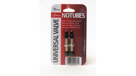 No Tubes Universal Tubeless ventilky 35mm - pár