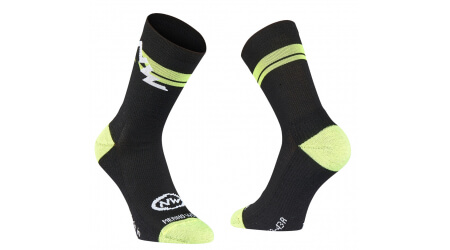 Northwave Extreme Winter High Sock ponožky Black/Yellow Fluo