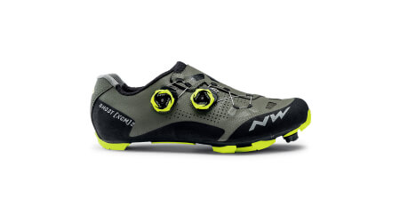Northwave Ghost XCM 2 pánské MTB tretry forest/yellow fluo