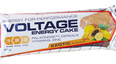 Nutrend tyčinka Voltage Energy Cake 65g exotic