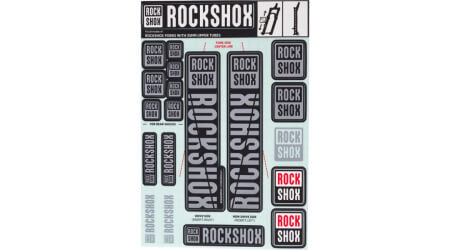 Rock Shox Decal Kit 35 mm Polar Grey - Pike/Lyrik/Yari/Domain/Revelation (2018+)