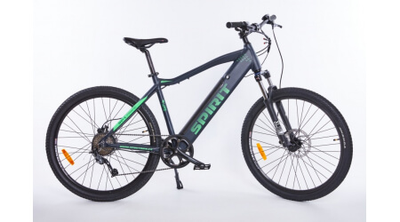 Spirit MTB II 27,5 elektrokolo black/green, integr.bat. 17Ah