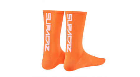 Supacaz Straight Up ponožky Neon Orange/White