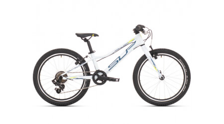 Superior Racer XC 20 2021 Gloss White/Petrol Blue/Neon Yellow dětské kolo