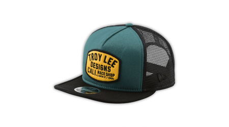 Troy Lee Designs Blockworks Snapback kšiltovka Pine Needle / Gold Osfa