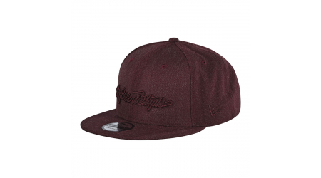 Troy Lee Designs Classic Signature Snapback kšiltovka Red Wine Osfa vel. Uni