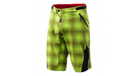 Troy Lee Designs Ruckus kraťasy 2016 Plaid Lime Green