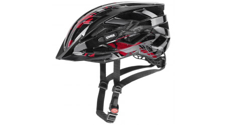 Uvex Air Wing přilba black/red vel. Uni (52-57cm)