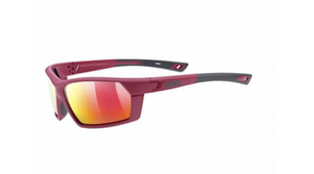 Uvex Sportstyle 225 Pola brýle Red Grey/Mirror Red 2020